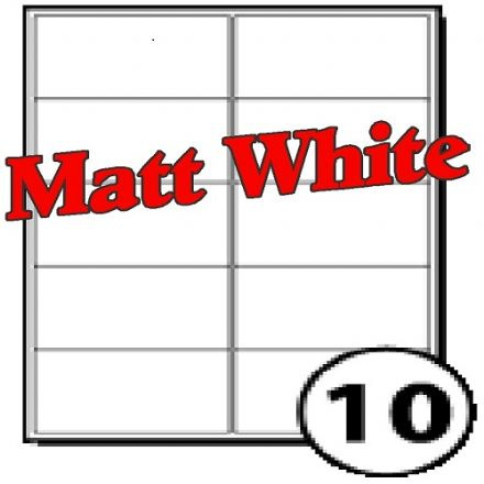 99 x 57mm Matt White Polyester Labels (10 per sheet)